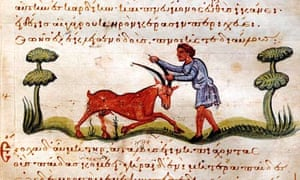'Oh my hand' … a detail from an 11th-century manuscript in Santiago.