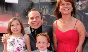 Warwick Davis and family