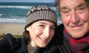 Rebecca Ley with her father.