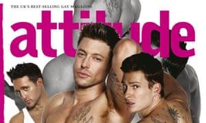 Attitude magazine front cover of Eurovision hopefuls Blue