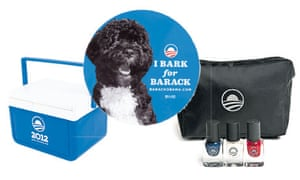 A selection of Obama merchandise, available from his website.