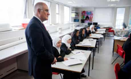 Sir Michael Wilshaw at Park View school in Birmingham, March 2012