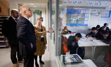 Wilshaw being shown a class at Park View