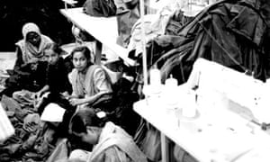 Workers from a Bangladeshi factory supplying Adidas