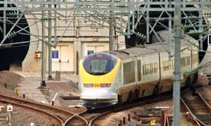 Eurostar emerges from the Channel tunnel