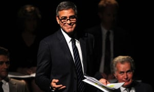 George Clooney and Martin Sheen during the reading of Dustin Lance Black's 8