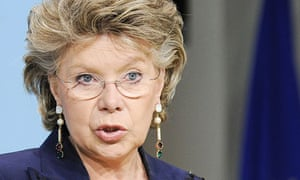 Viviane Reding says women are running out of patience at being kept out of Europe's boardrooms