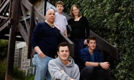 Shay and Sigal Shoshany with three of their sons, Shayzaf, 11, Shahaf, 23, and Snir, 20.