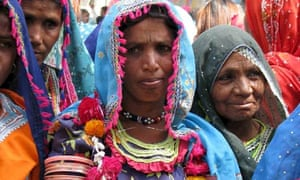 A demonstration against domestic violence in Hyderabad, Pakistan