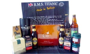 The Titanic hamper, complete with branded booze