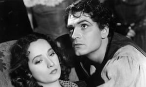 Merle Oberson and Laurence Olivier in the 1939 film Wuthering Heights