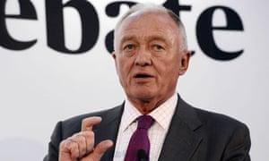 Ken Livingstone during the Evening Standard mayoral debate in London