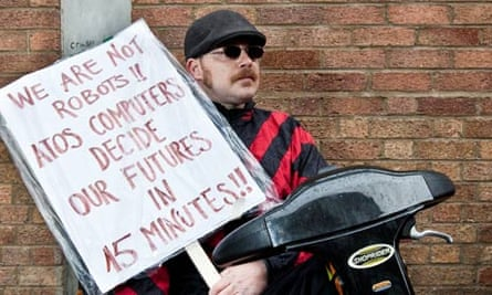 A protest against Atos Healthcare assessments