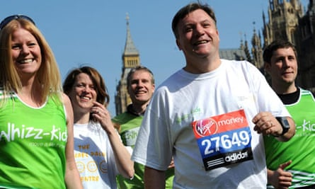 Ed Balls: 'Don't expect to lose any weight.'