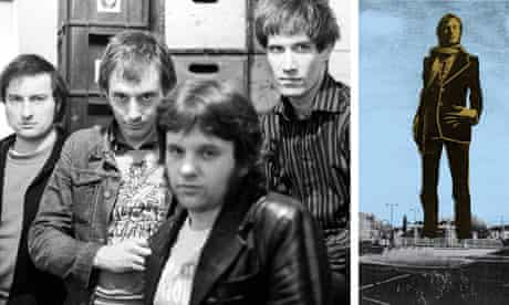 Dr Feelgood in 1975 (Lee Brillieaux second from left); and an artist's impression of the statue