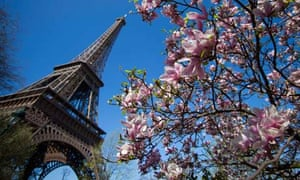 The Eiffel Tower in Paris, where a family business is accused of selling souvenirs without a licence