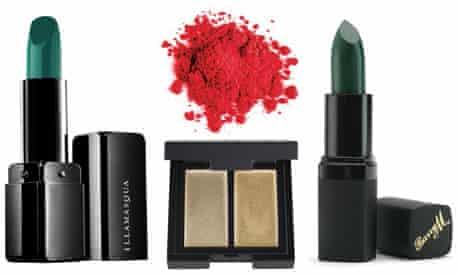 Illamasqua Lipstick in Apocalips, MakeUp Forever?s Pure Pigment in Carmine