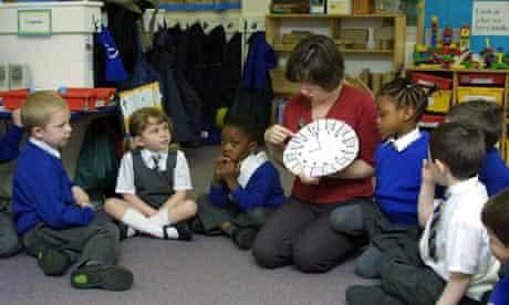 Reception school children