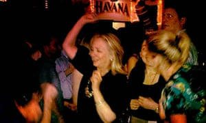 Hillary Clinton partying at the Cafe Havana in Cartagena, Colombia, 15 April 2012