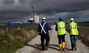 Engineers at a Cuadrilla shale fracking plant