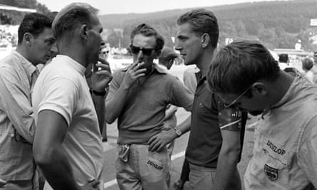 Alan Mann, motor-racing team owner, second from right