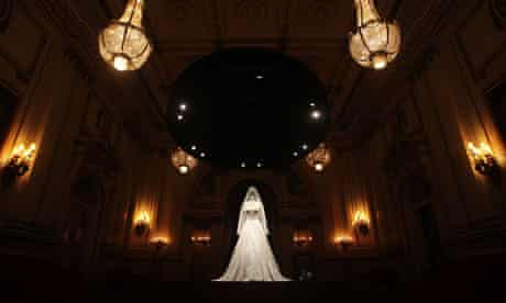 The Duchess of Cambridge's wedding dress in Buckingham Palace