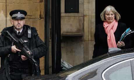 Home secretary Theresa May leaves parliament after defending the handling of the Abu Qatada affair