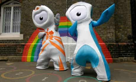 Olympic mascots Wenlock and Mandeville