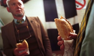 Delegates at the Mebyon Kernow party conference with Cornish pasties