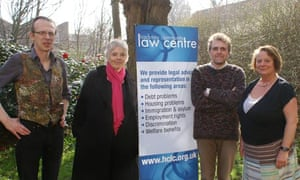 Louise Christian with Hackney Community Law Centre staff