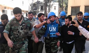 UN monitors in Syria
