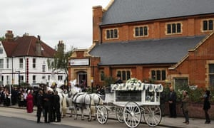 Mark Duggan's funeral in Wood Green, London, last September.