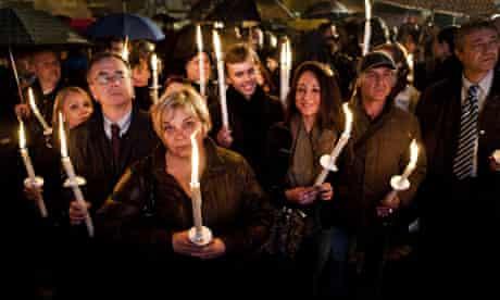Rome candlelit vigil protest
