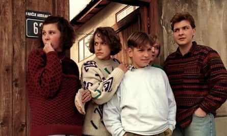 Delila Lacevic and her cousins during the siege of Sarajevo
