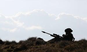 British military snipers