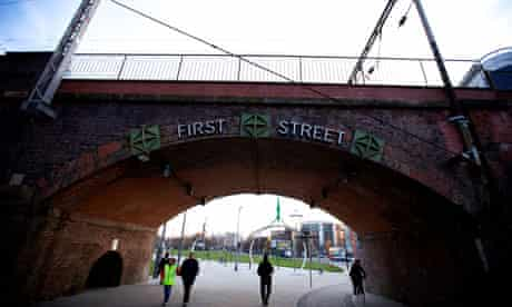 First Street, Manchester, new home of the merged Cornerhouse cinema and Library Theatre Company