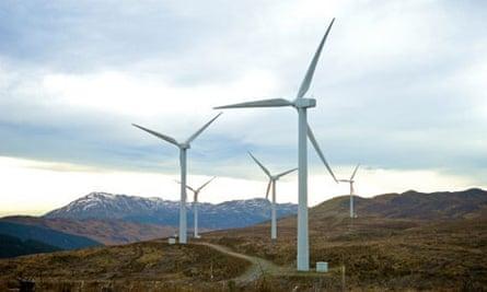 Cruach Mhor windfarm in Argyll, Scotland