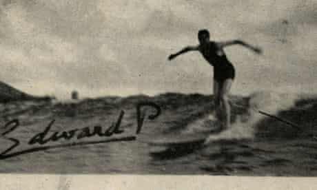 Edward VIII surfing