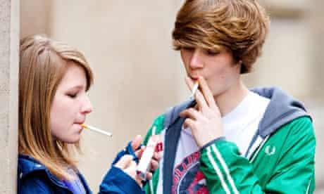 Teenagers smoking