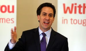 Ed Miliband pledging to govern for the whole country, 'not just for the wealthy few'