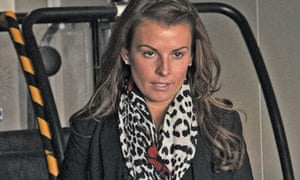 Coleen Rooney at  Heathrow airport