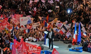 Francois Hollande holds election Rally