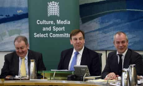 John Whittingdale and colleagues on the culture, media and sport select committee