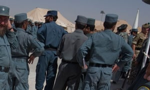 The killers wore Afghan police uniforms.