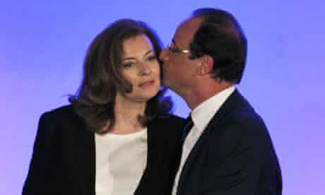 François Hollande with Valérie Trierweiler, May 2012