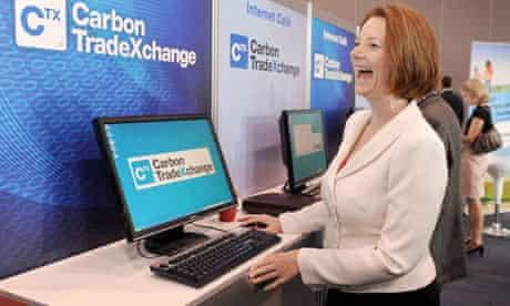 Australian Prime Minister Julia Gillard at the Carbob expo