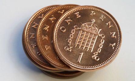 Legal tender? Some 1p coins