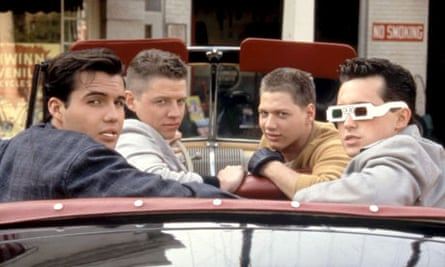 Thomas F Wilson (second from left) in Back to the Future