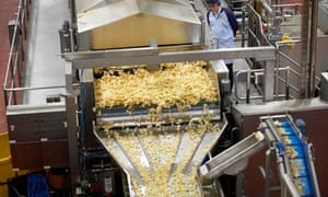 Crisp being made at the Walkers factory