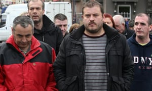 Relatives of Colin Duffy leave court